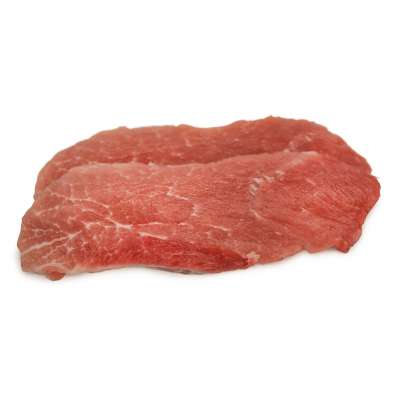 Schnitzel aus der Oberschale vom Turopolje-Schwein
